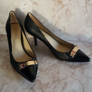 Coach black classic pump with logo heels 9B